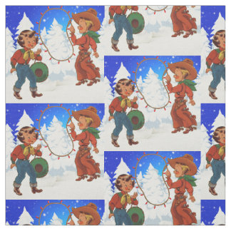 Vacances Fabri de scène d'hiver d'enfants de Tissu