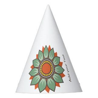 Vacances florales modernes de motif chapeaux de fètes