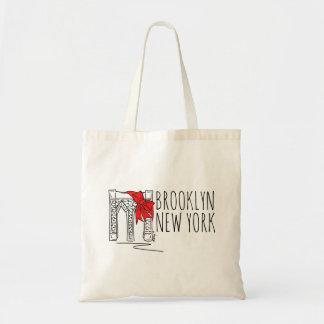 Vacances rouges Fourre-tout de New York City NYC Sac En Toile Budget