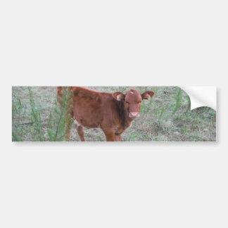 Vache à Brown de bébé. Autocollant De Voiture