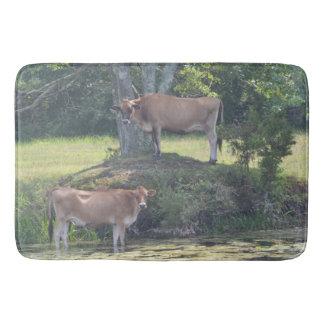 Vache à pays tapis de bain