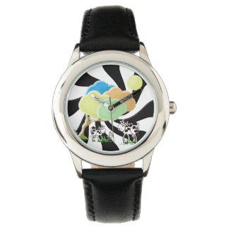Vache à ressort et montre d'acier inoxydable montres