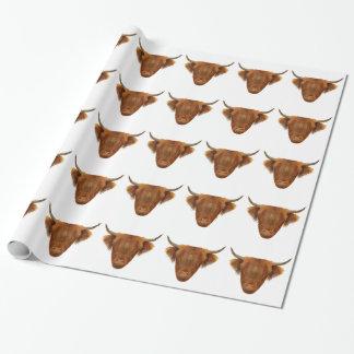 Vache des montagnes écossaise à animal de l'Ecosse Papier Cadeau Noël