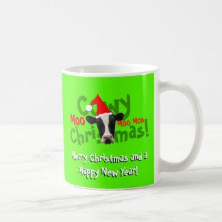 Vache drôle à Père Noël de Noël de Cowy Mug