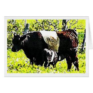 Vache et veau à Oreo au Maine Carte