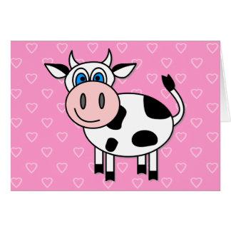 Vache heureuse - personnalisable cartes de vœux
