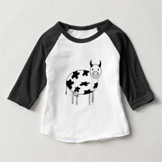 Vache illustrée t-shirt pour bébé