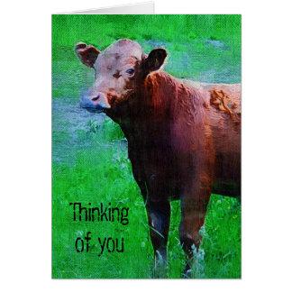 Vache peinte à Brown Carte