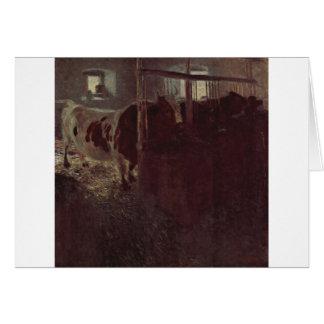 Vaches dans la grange par Gustav Klimt Carte