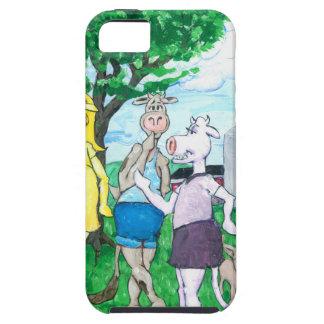 Vaches laitières portant des vêtements de rue coques iPhone 5 Case-Mate
