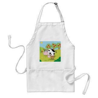 Vaches sur le tablier de ferme