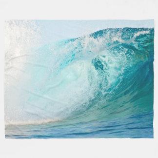 Vague bleue de l'océan pacifique cassant la couverture polaire