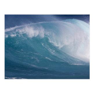 Vague bleue se brisant, Maui, Hawaï, Etats-Unis Carte Postale