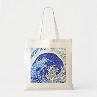 Vague féminine par Hokusai Sac En Toile Budget