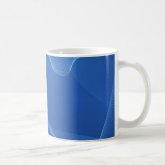 Vagues bleues mug blanc