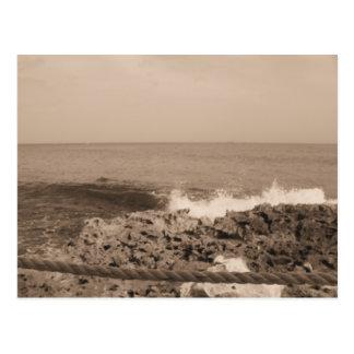 vagues carte postale