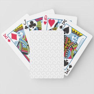 Vagues d'argent et de blanc - élégantes et motif jeu de cartes