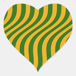 Vagues d'herbe d'agriculteur sticker cœur