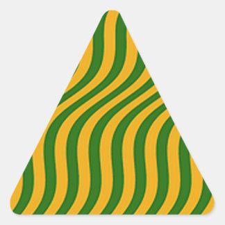 Vagues d'herbe d'agriculteur sticker triangulaire