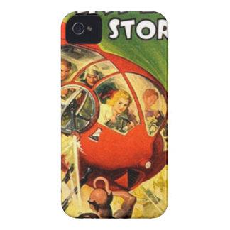 Vaisseau spatial rouge minuscule coque iPhone 4