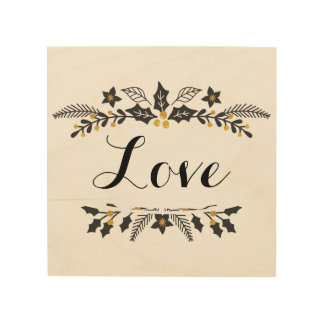 Vakantie, het tekendecoratie van de Liefde Hout Afdruk