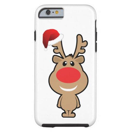 Vakantie van grappige santa van Kerstmis Tough iPhone 6 Hoesje