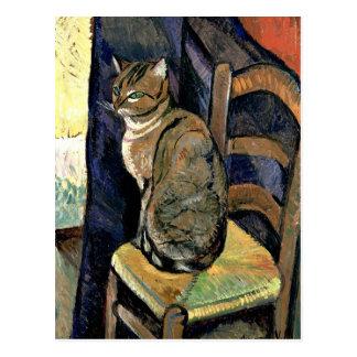 Valadon - étude d'un chat cartes postales