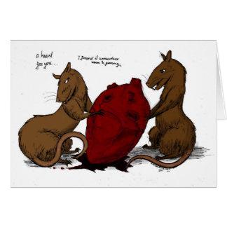 valentine de rat carte de vœux