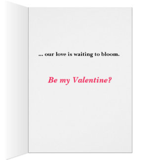 Valentines de Rosebud Carte De Vœux