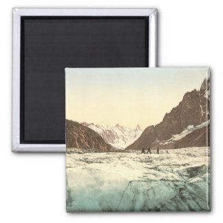 Vallée de Chamonix - Mer de Glace Magnet Carré