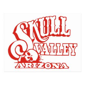 Vallée de crâne, Arizona Carte Postale