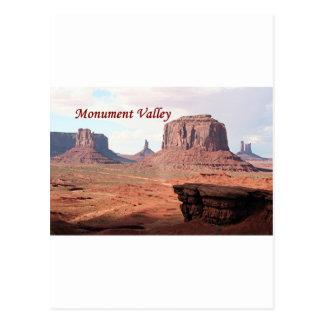 Vallée de monument, le point de John Ford, Utah, Carte Postale