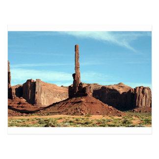 Vallée de monument, Utah, Etats-Unis 5, totem Carte Postale