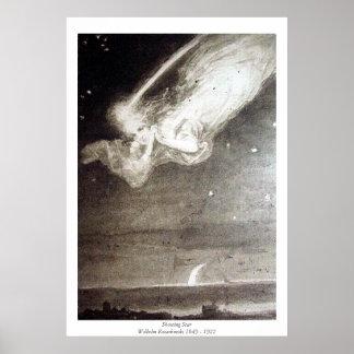 Vallend ster - Wilhelm Kotarbinski Poster