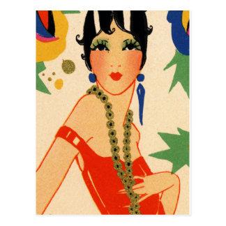 Vamp d'art déco, aileron des années 1920 cartes postales