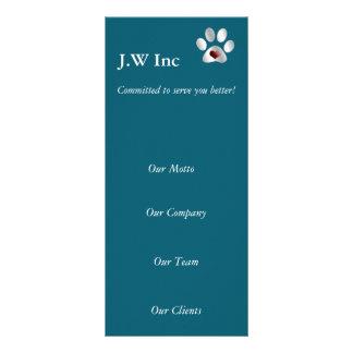 Van de bedrijfs huisdierenzorg rekKaarten Reclamekaart