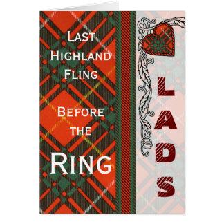 Van de de clanPlaid van Crosby het Schotse geruite Briefkaarten 0