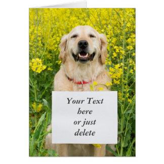 Van de de hond leuke douane van het golden kaart