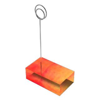Van de de was oranje lijst van de waterverf de plaatskaart houder