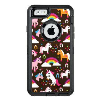 van de eenhoornregenboog kinder paard als OtterBox iPhone 6/6s hoesje