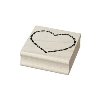 Van de het hartvorm van de ketting de zegel van de rubberstempel