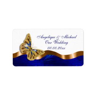 Van de het huwelijksverjaardag van de vlinder het addressticker