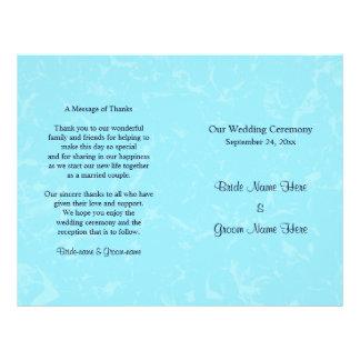 Van de pastelkleur Blauw Subtiel Abstract Huwelijk Flyer 21,6 X 27,9 Cm