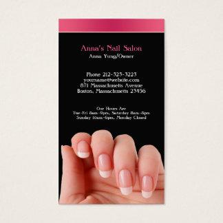 Van de spijker van de Salon w/Appointment- Visitekaartjes