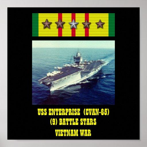 VAN DE USS ENTERPRISE (CVAN-65) HET POSTER