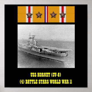 VAN DE USS HORNET (CV-8) HET POSTER