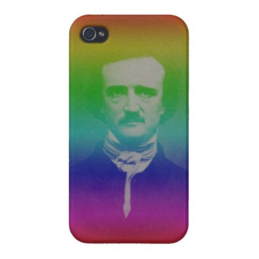 Van Edger Funny Bizarre iPhone van Alan Poe Portra iPhone 4/4S Hoesjes