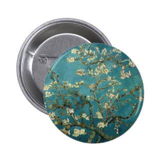 Van Gogh Almond Takken in Bloei Ronde Button 5,7 Cm