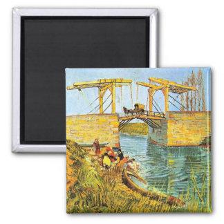 Van Gogh; De Brug van Langlois bij het Wassen van  Koelkast Magneten