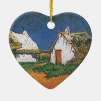 Van_Gogh_-_Drei_weiße_Hütten_in_Saintes-Maries Ornement Cœur En Céramique
